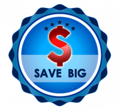 Save Big logo with a large, red dollar sign